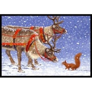 Carolines Treasures ASA2173JMAT Reindeer & Squirrel Indoor or Outdoor Mat 24 x 36