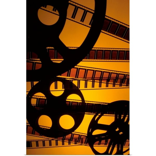 """Film reels"" Poster Print"