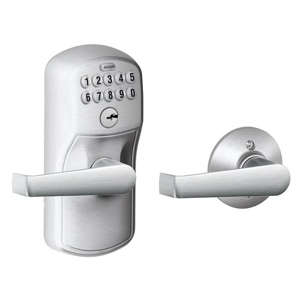 Schlage FE575-PLY-ELA Keypad Entry and Auto-Lock Electronic Leverset with Elan Lever from the Plymouth Collection