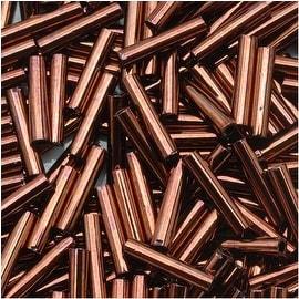 Toho Bugle Tube Beads Size 3 2x9mm Dark Bronze 10 Grams
