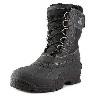 DC Shoes Rodel Men Round Toe Leather Black Snow Boot