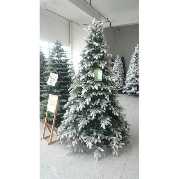 9 Artificial Christmas Tree.9 X 78 Pre Lit Frosted Butte Fir Artificial Christmas Tree Clear Lights Green