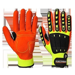 Portwest Safety Impact Gloves Oil & Water Resistant Lined Safety Workwear A725 Sale Price Home & Garden