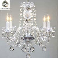 Swarovski Elements Crystal Trimmed Chandelier Lighting With Faceted 40 mm Crystal Balls