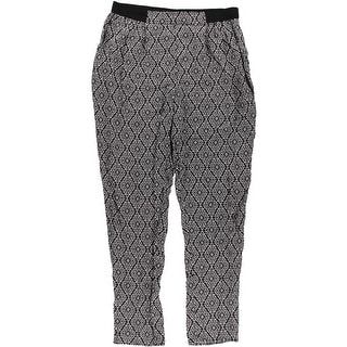 Love Fire Womens Juniors Printed Tapered Casual Pants - L