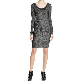 Rag & Bone/JEAN Womens Bodycon Dress Heathered Long Sleeves