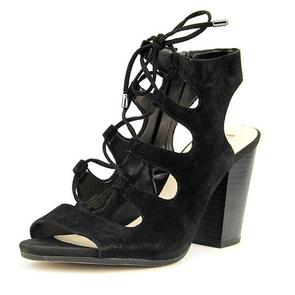 INC International Concepts RADKA Women Open Toe Suede Black Sandals