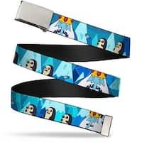 Blank Chrome Bo Buckle Ice King & Penguins Webbing Web Belt