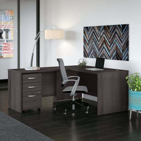 Studio C 60W L Shaped Desk with Drawers by Bush Business Furniture