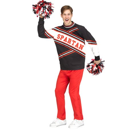 Mens Deluxe Spartan Cheerleader Funny SNL Costume - Standard - One Size