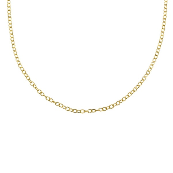 Cable Chain in 14K Gold-Plated Sterling Silver - Yellow