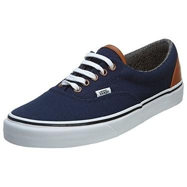 Vans Unisex Era Sneakers, (C&L) Dress Blues/Tweed, Men's 6, Women's 7.5 Medium
