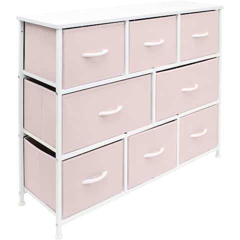 Dresser w/ 8 Drawers Furniture Storage Chest for Clothing Organization