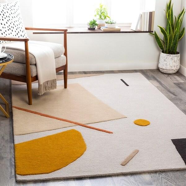 Tempeaux Modern Wool/Viscose Handmade Area Rug. Opens flyout.