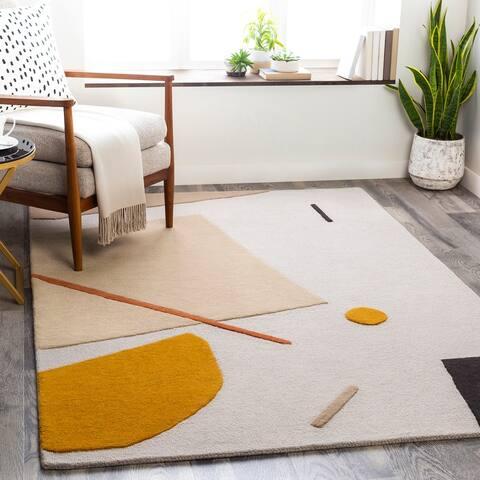Tempeaux Modern Wool/Viscose Handmade Area Rug