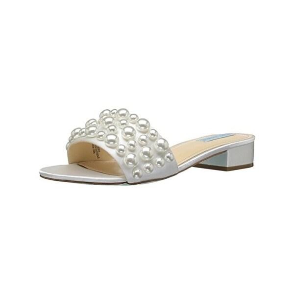 Betsey Johnson Womens Poppy Slide Sandals Dress Open Toe