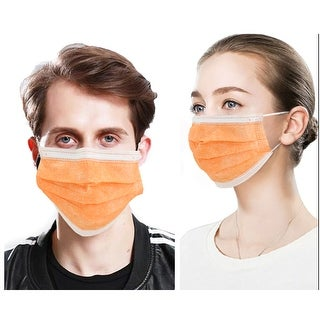 Link to 50 PcsFace Cover Masks 3Ply Layers with Earloop, Breathable Non-Woven - 50 Pcs Orange Similar Items in Scarves & Wraps