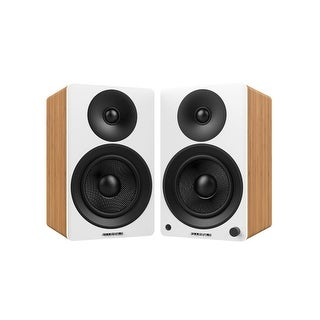 "Fluance Ai40W Powered Two-Way 5"" 2.0 Bookshelf Speakers with Class D Amplifier for Turntable, PC, HDTV & Bluetooth Music"