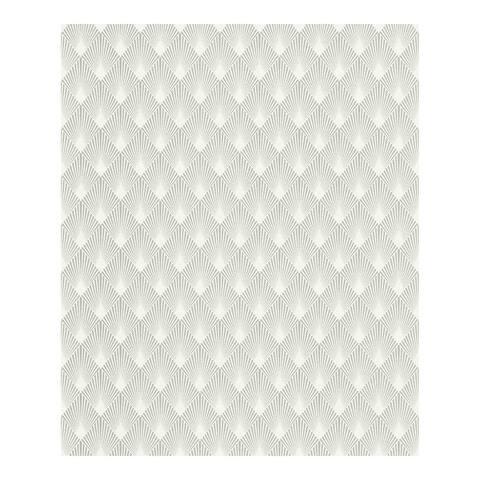 Ridley Silver Geometric Wallpaper - 20.5 x 396 x 0.025