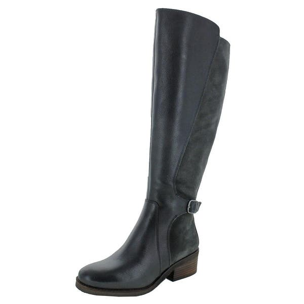 167223f3f3831 Shop Lucky Brand Womens Timinii Riding Boots Leather Wide Calf ...