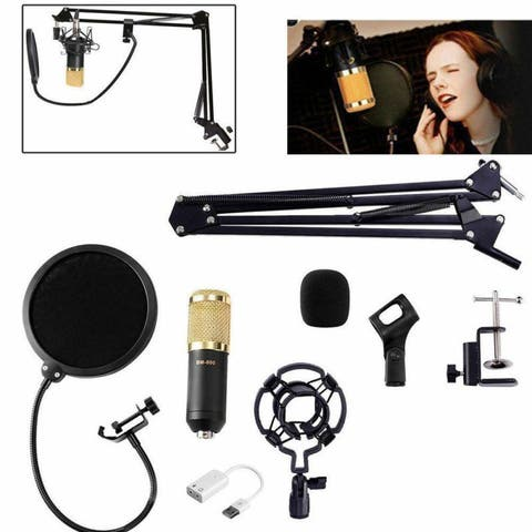 BM-800 Professional Broadcasting Studio Recording Condenser Microphone Mic Set