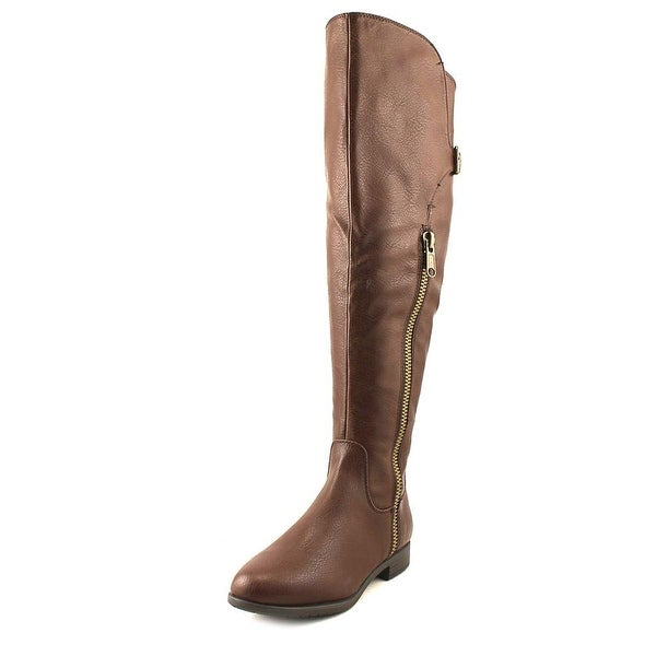 Rialto First Row Wide Calf Women Round Toe Synthetic Brown Over the Knee Boot