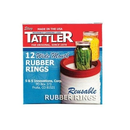 Tattler 1021 Wide Mouth Replacement Rubber Rings, Count of 12
