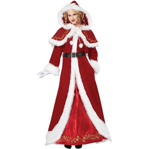 California Costumes Deluxe Mrs. Claus Adult Costume - Red