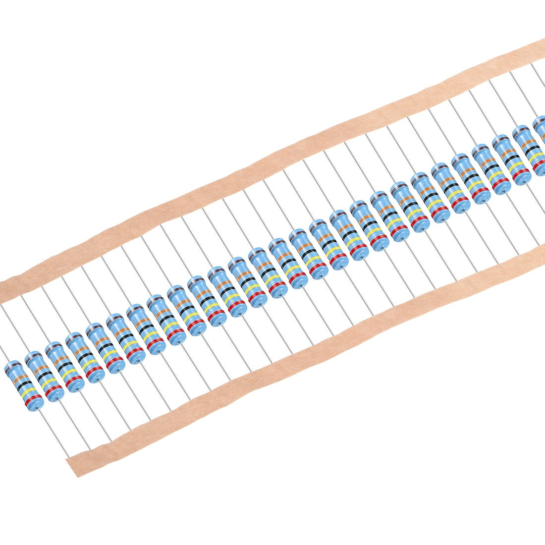 30pcs Metal Film Resistors 240K Ohm 2W 1%Tolerances 5 Color Bands