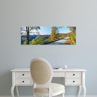 Easy Art Prints Panoramic Images's 'Blue Ridge Parkway, North Carolina, USA' Premium Canvas Art