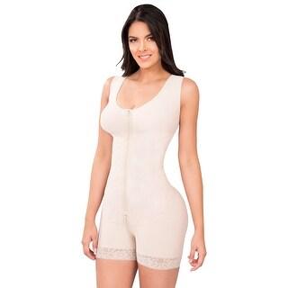 Powernet Butt Lifter Hip Hugger Shaper Post-Surgery Postpartum Girdle with Bra Fajas Colombianas Nude 607 by Fiorella Shapewear