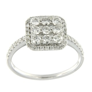 Prism Jewel 0.61Ct Round G-H/SI1 Natural Diamond Cluster Ring - White G-H