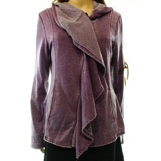 BNCI By Blanc Noir NEW Purple Women's Size Medium M Full Zip Sweater