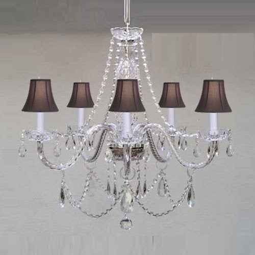 Swarovski elements crystal trimmed chandelier lighting venetian swarovski elements crystal trimmed chandelier lighting venetian style chandelier lighting with black s free shipping today overstock 18184194 aloadofball Image collections