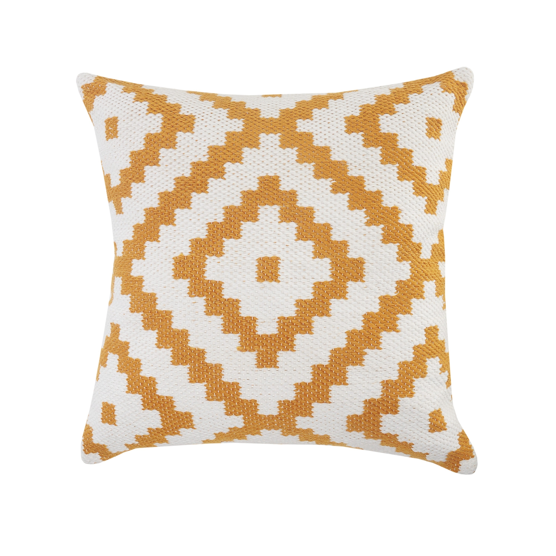 Geometric Indoor Outdoor Throw Pillow Overstock 31927827 White Yellow