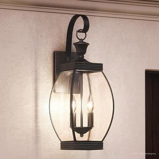 Luxury Colonial Outdoor Wall Light 21 H X 7 5 W With Transitional
