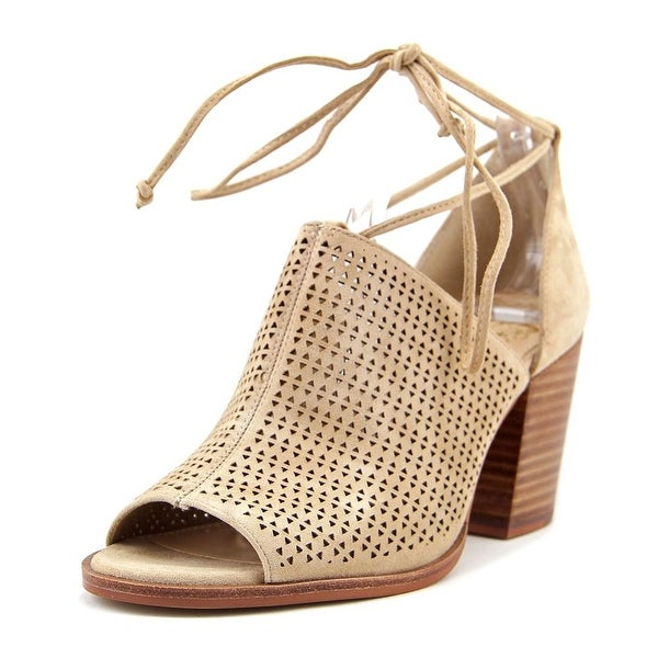 Vince Camuto Lindel Women Open Toe Suede Tan Sandals
