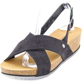 Bearpaw Renee Women Open-Toe Synthetic Black Slingback Sandal