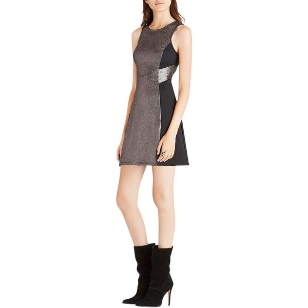 BCBGeneration Womens Party Dress Colorblock Sleeveless