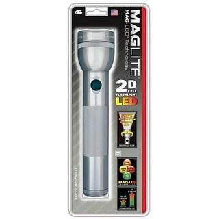 Maglite ST2D096 2D Cell LED Flashlight, Gray