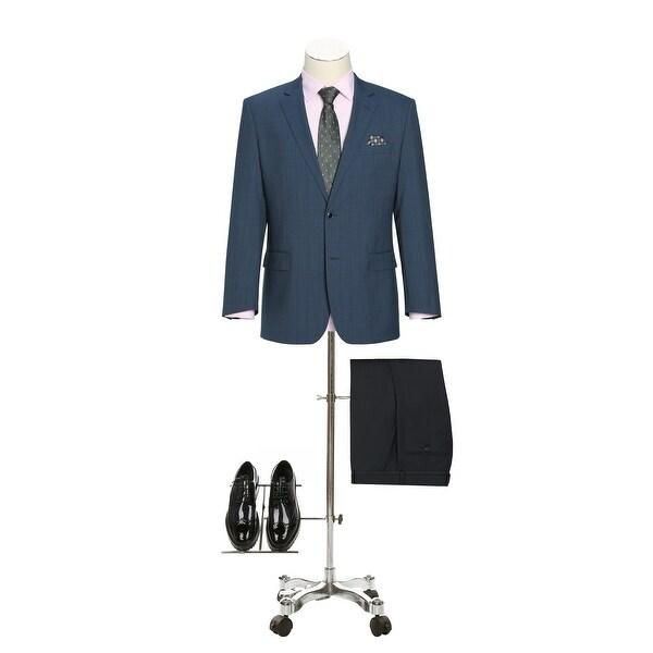 Verno Mens Classic Fit Blazer 100% Wool Plaid Sport Coat