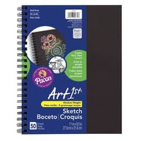 Art1st Create-Your-Own Sketch Diary, 11 x 8-1/2 Inches, Black Cover