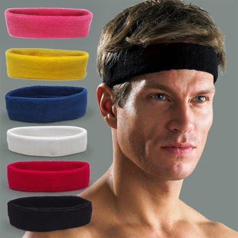 Unisex Sports Yoga Fitness Stretch Sweat Sweatband Hair Band Headband Headwear