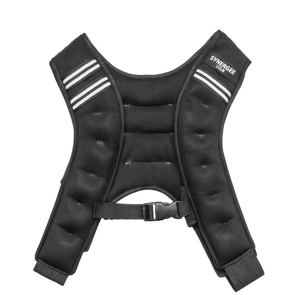 Synergee Weighted Vest – Infinity Wearable Weight for Men, Women, Running, CrossFit, Body weight Training Workouts. Opens flyout.