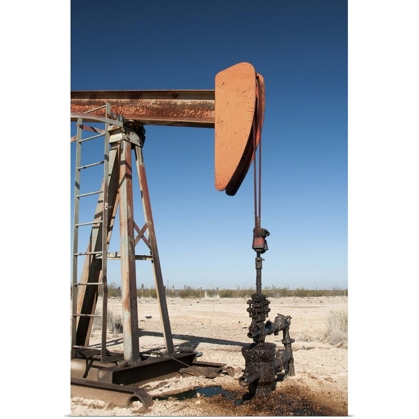 """""""Old oil well pump near Pecos"""" Poster Print"""