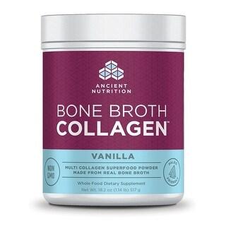 Ancient Nutrition Bone Broth Collagen Vanilla - 30 Servings - Superfood - Type I, II, III Collagen - Paleo-Friendly