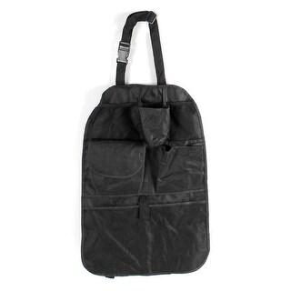 Travel 6 Compartments Auto Car Back Seat Storage Organizer Bag Black