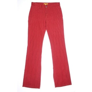 Catherine Malandrino Womens Colored Criss-Cross Bootcut Jeans - 4