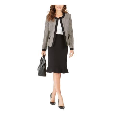 LE SUIT Beige Knee Length Blazer Skirt Suit 18