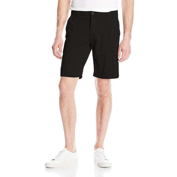 Lee Deep Black Mens Size 32 Extreme Comfort Flat-Front Shorts